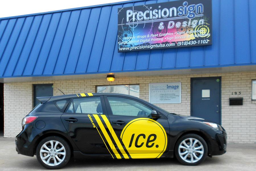 Cut Vinyl Partial Vehicle Wrap Precision Sign Amp Design