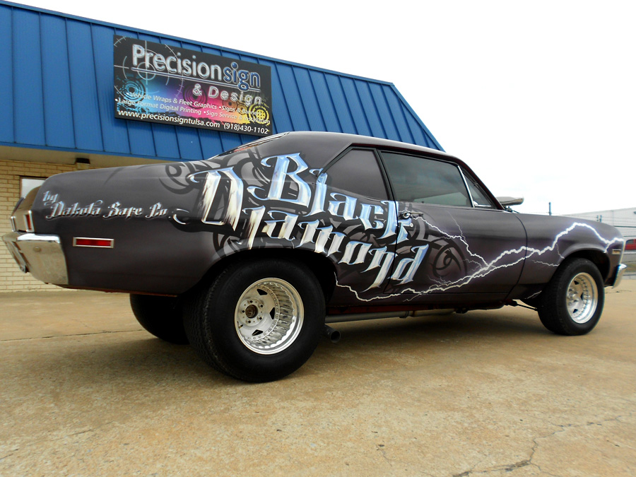 Drag Car Wrap Precision Sign Design