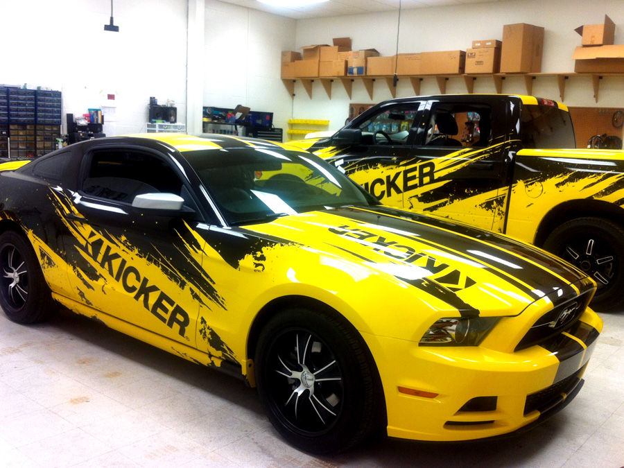 stillwater kicker car wraps precision sign design