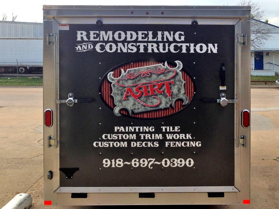 Tulsa Enclosed Trailer Graphics Precision Sign Amp Design