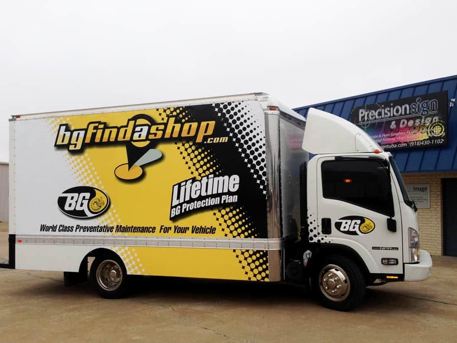 Tulsa Box Truck Wrap Precision Sign Amp Design