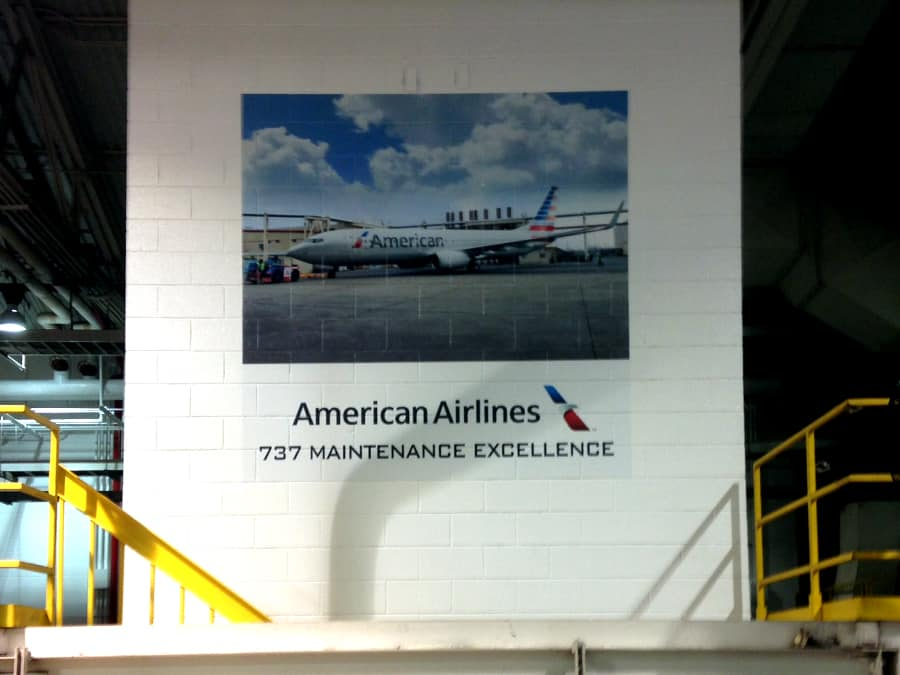 Tulsa American Airlines Wall Murals Precision Sign Amp Design