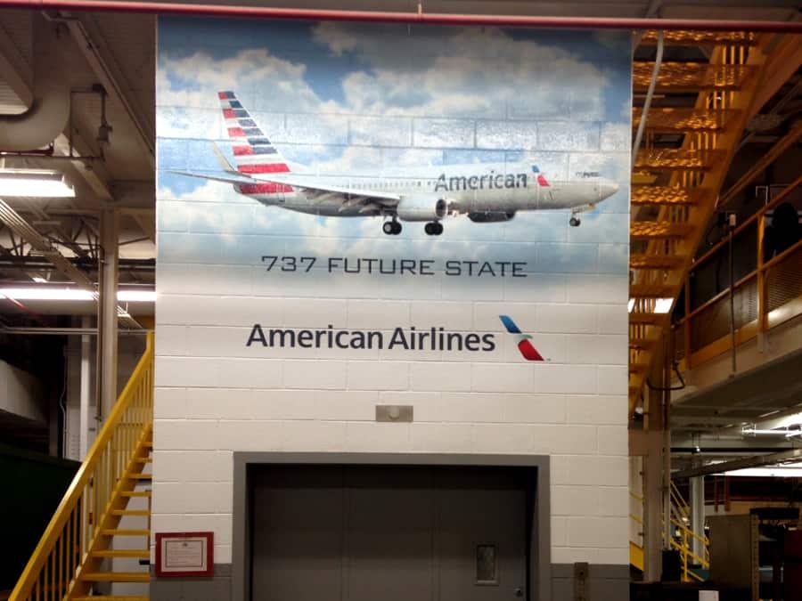 Tulsa American Airlines Wall Murals Precision Sign Amp Design