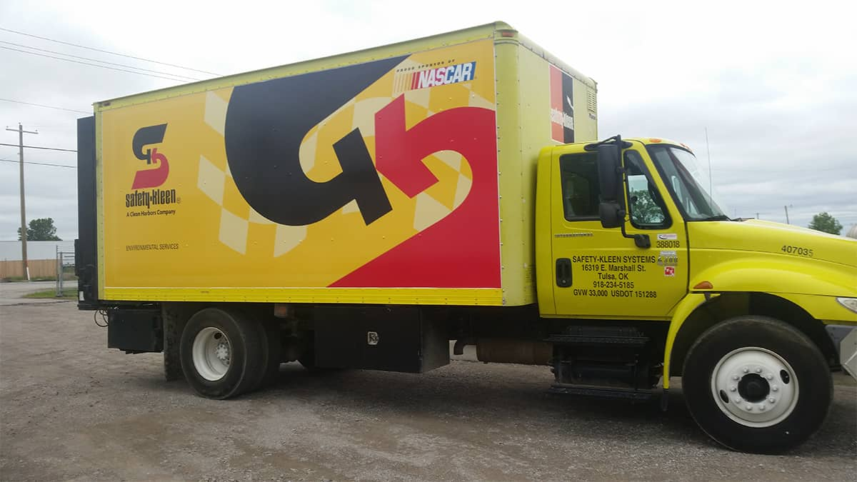 Safety Kleen Box Truck Wrap | Precision Sign & Design