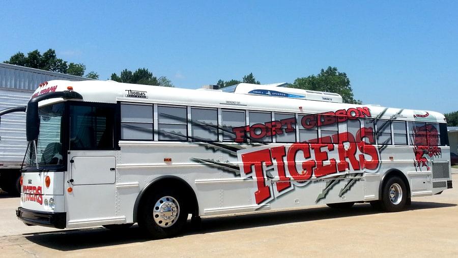 Ft Gibson School Activity Bus Wrap Precision Sign Amp Design