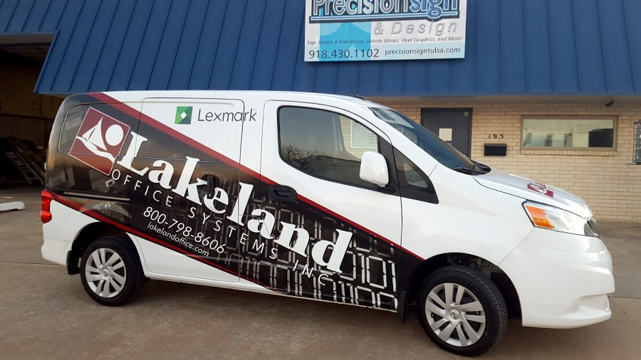 lakeland office systems nissan nv200 partial van wrap precision sign design. Black Bedroom Furniture Sets. Home Design Ideas