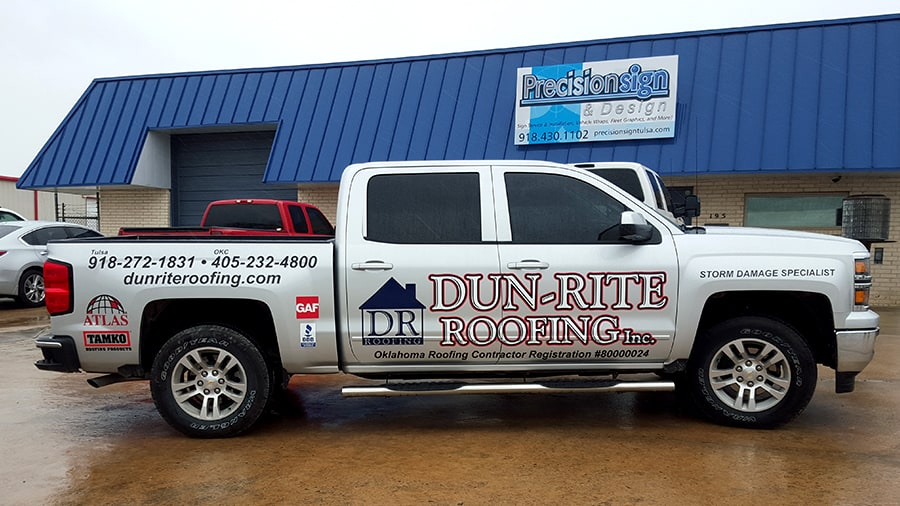 Dunrite Roofing Company Print And Cut Vinyl Graphics Package.  DunriteRoofingCutVinylGraphics01 DunriteRoofingCutVinylGraphics02