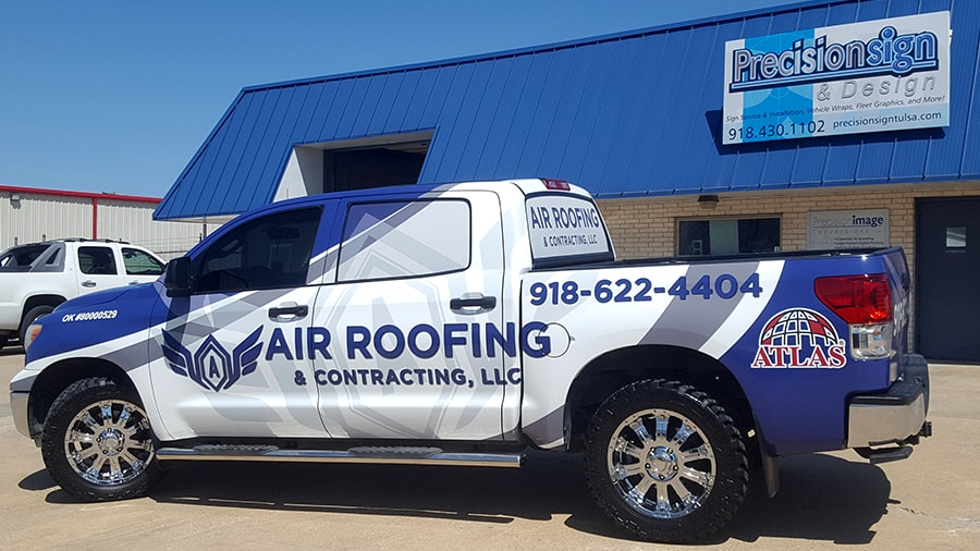 Roofing Vehicle Wrap : Vehicle wraps precision sign design